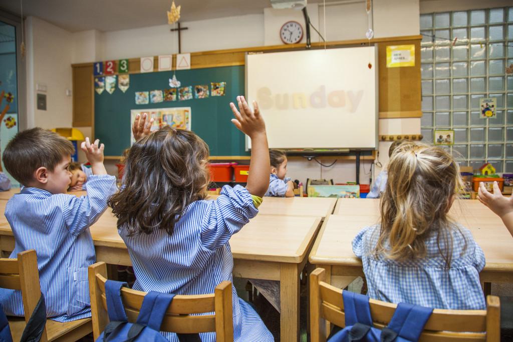 Classe educació infantil escola Pàlcam concertada de Barcelona